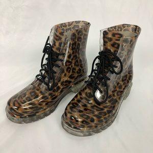 MADDEN GIRL leopard print rain boot